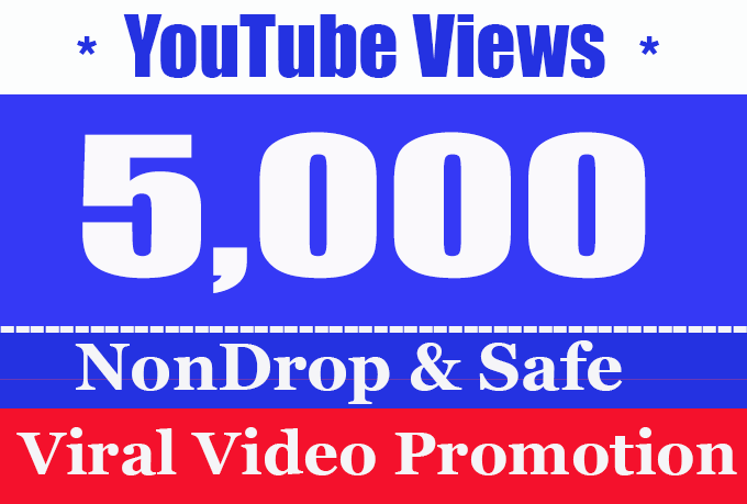 Instant 5k/5000 to 6k/6000 youtube views instant start and High Quality views