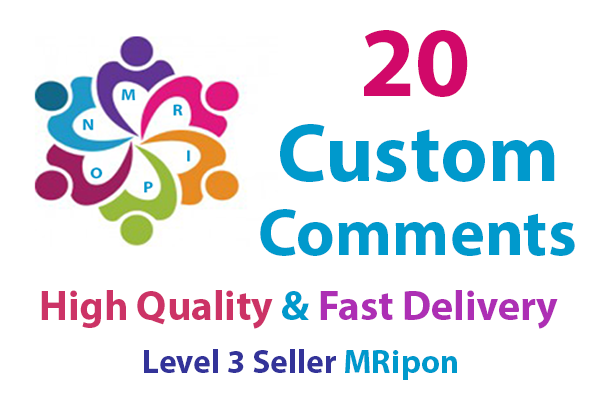Get Instant 20 High Quality Photo Post Custom Comments