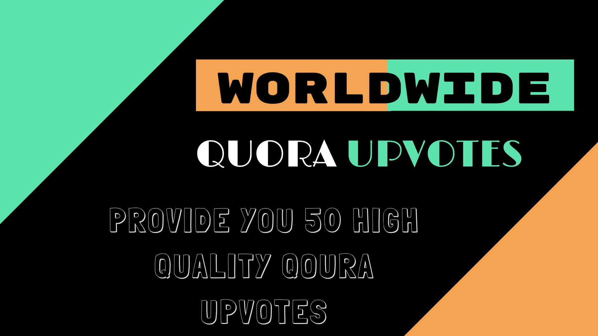 Provide You 50 High Quality Qoura upvotes