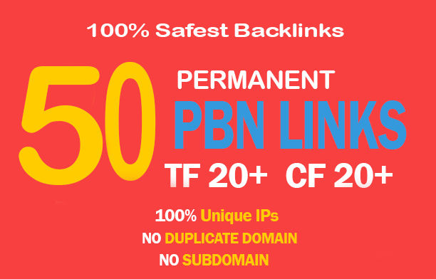 Unique 50 High TF CF DA PA 35+ Homepage PBN Backlinks...