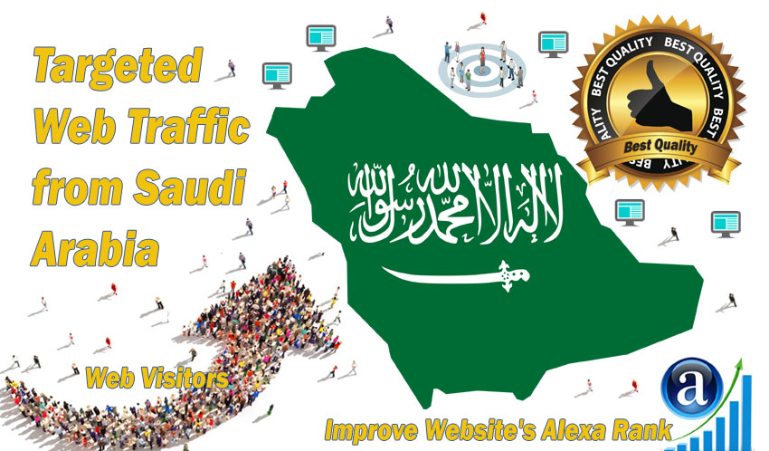 Saudi Arabia web visitors Real targeted High Quality web traffic