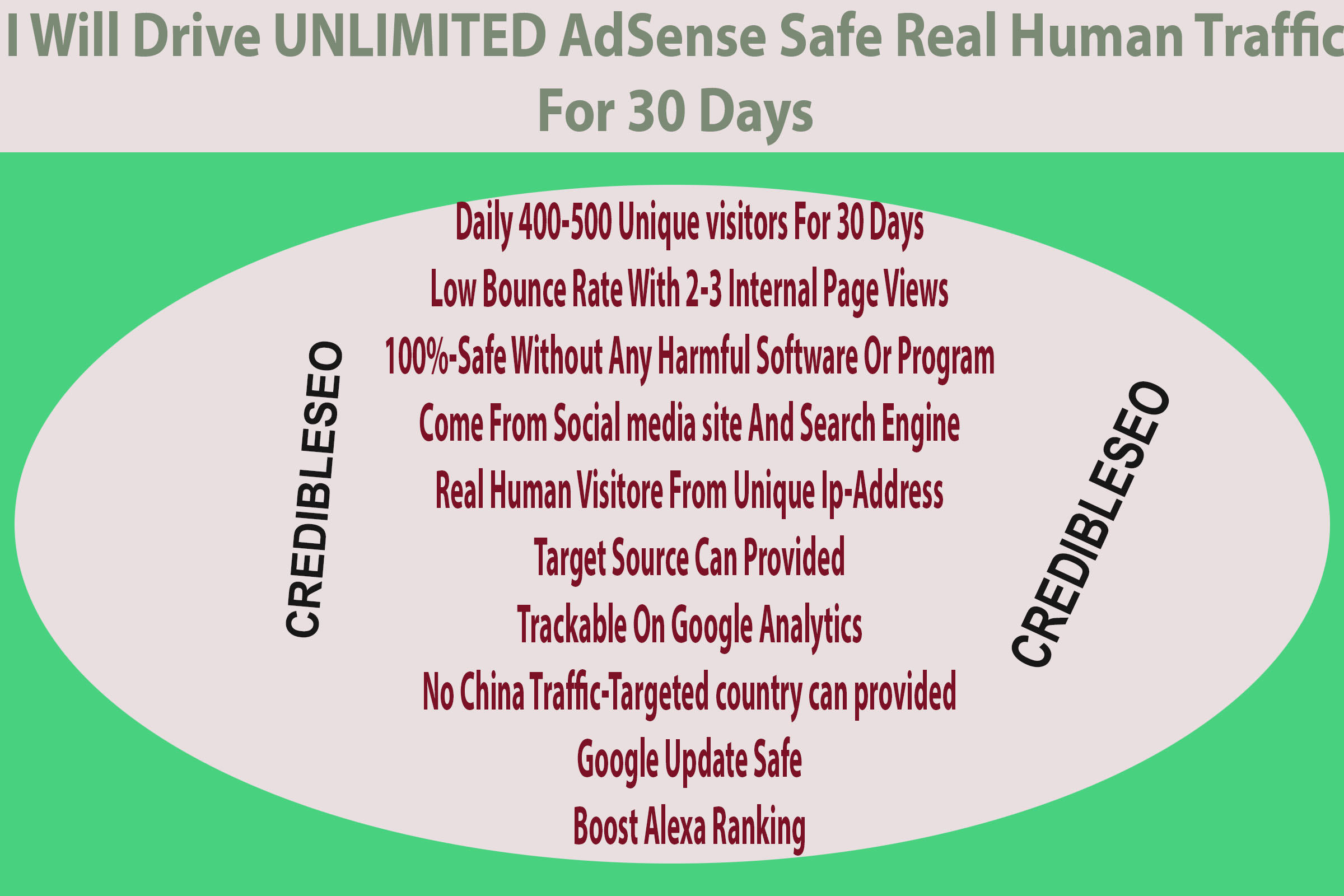 Drive UNLIMITED AdSense Safe Real Human Traffic For 30 Days
