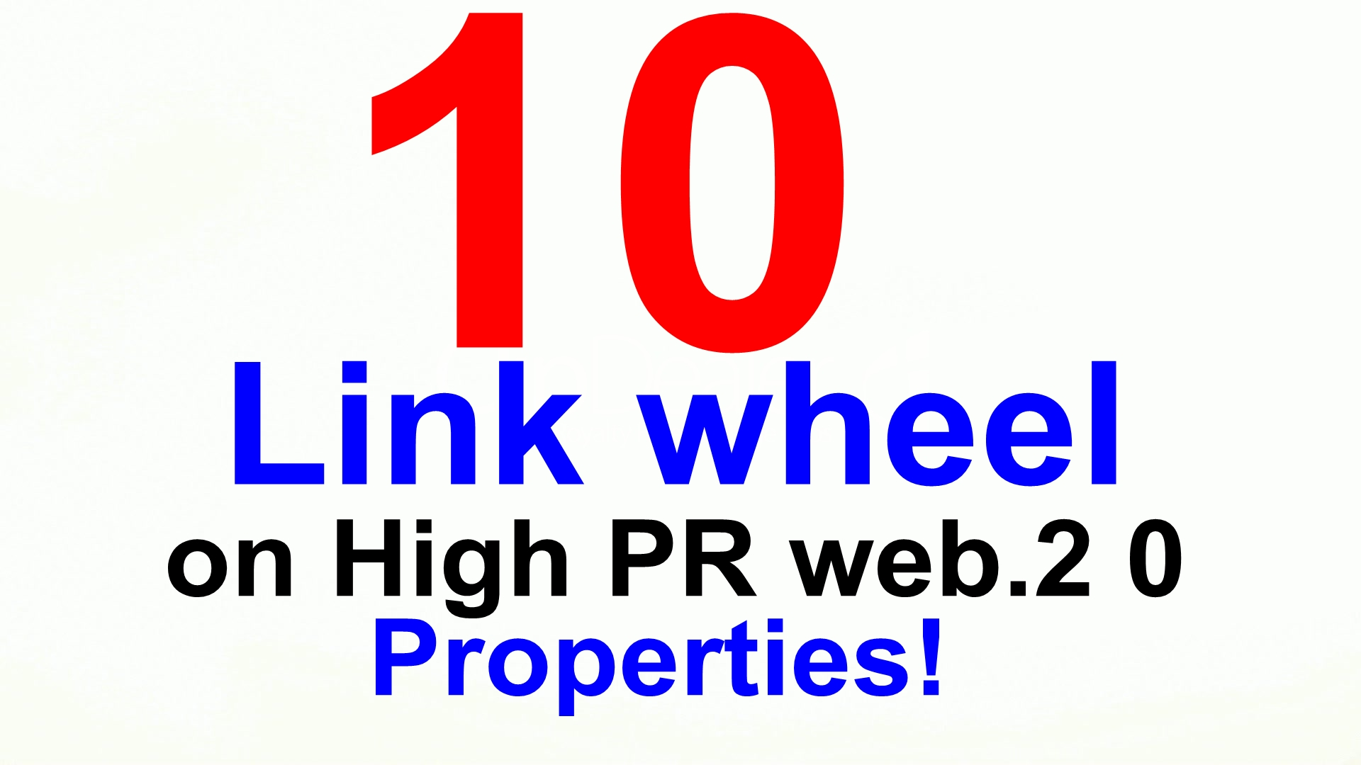 10 high quality web 20 properties we create all work manually