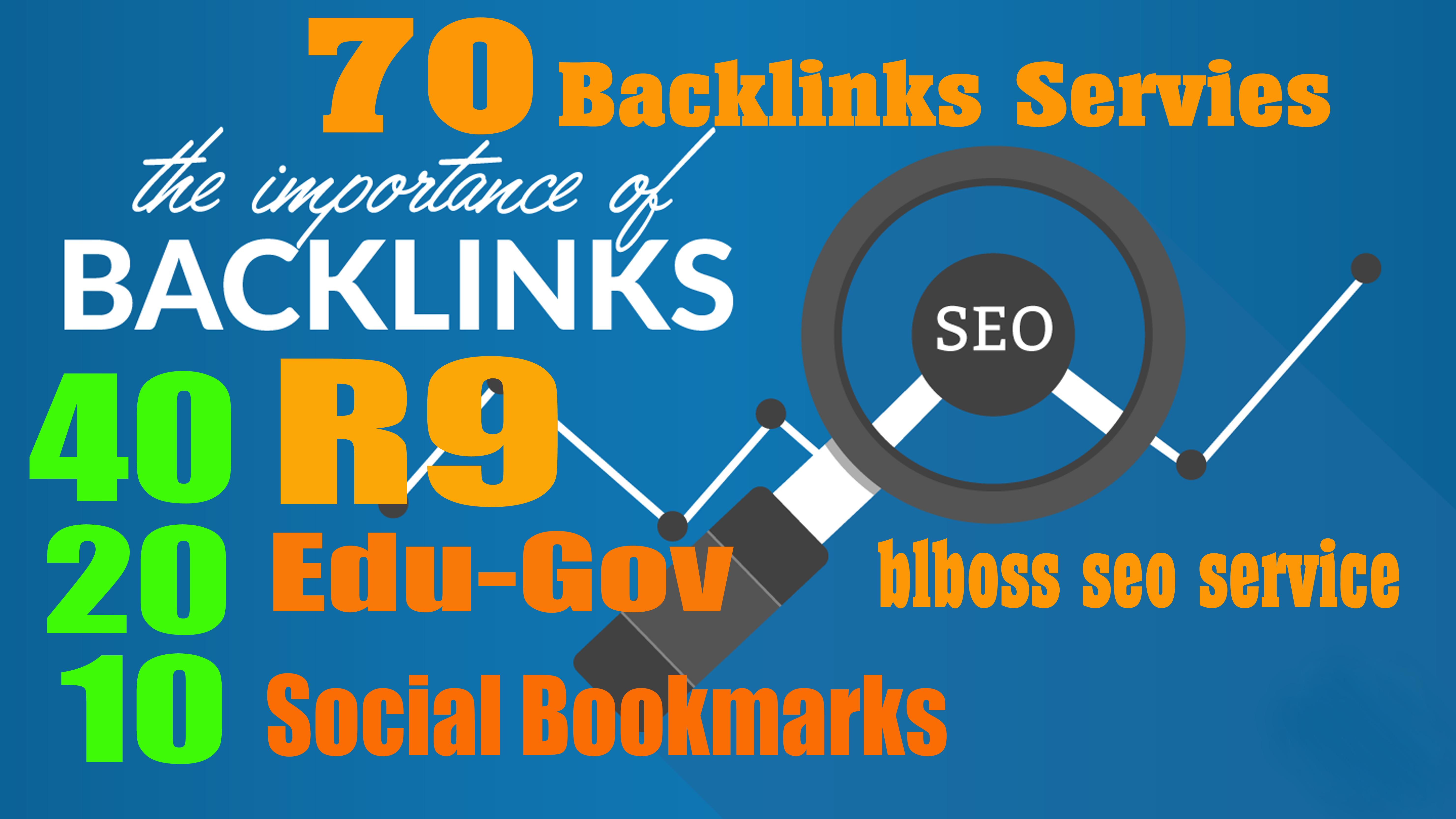 70 Backlinks from 40 PR9 + 20 EDU-GOV + 10 SOCIAL BOO...