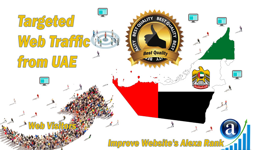 UAE,  United Arab Emirates web visitors Real targeted High Quality web traffic