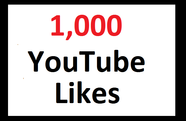 1000 YouTube Video Likes With 100 Share