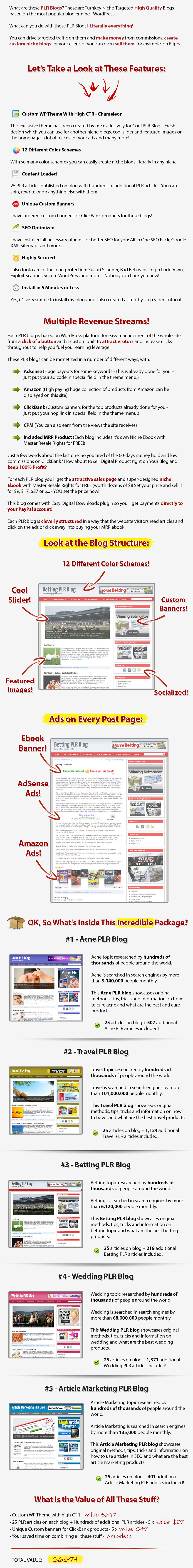 5 Done For You PLR Blogs + Awesome Bonus