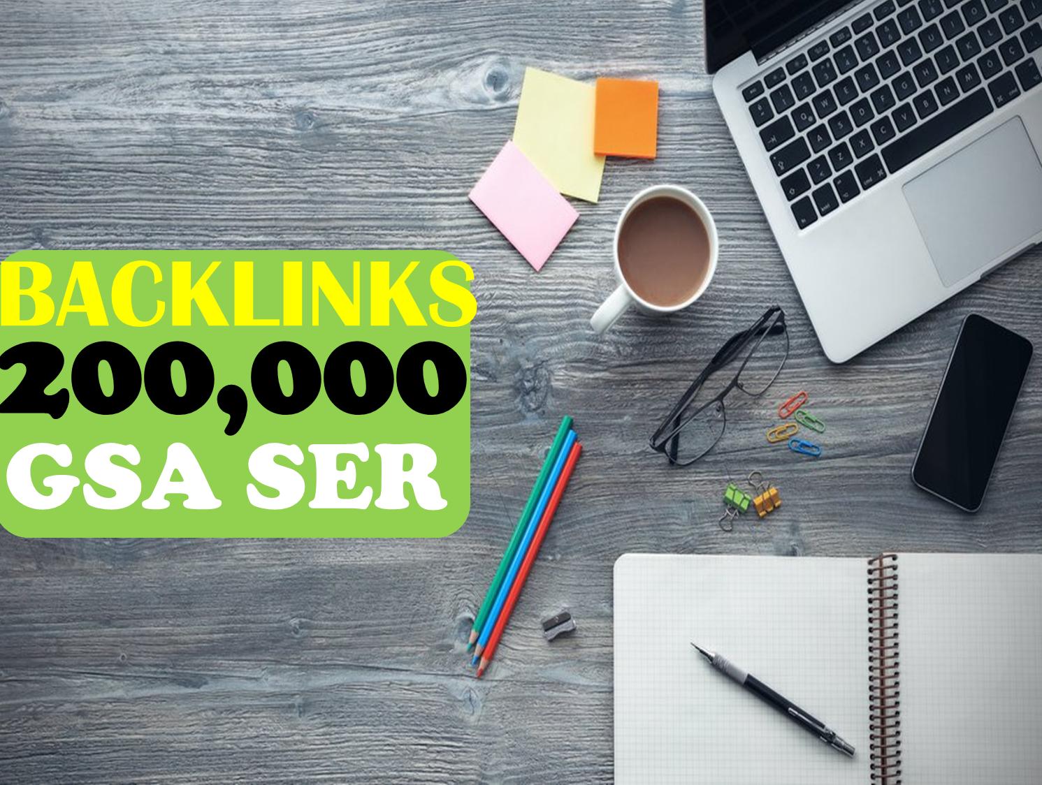 SEO SkyRocket 200,000 GSA Dofollow Links for Verified BACKLINKS Cracking Gsa Ser