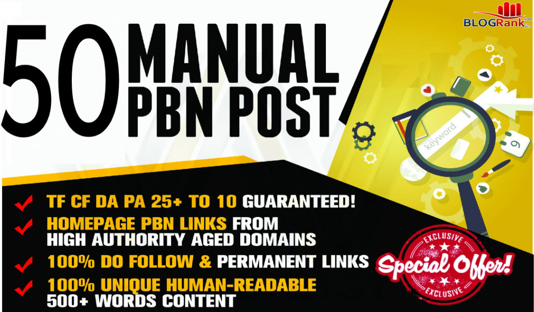 Create 50 High Quality PBN Backlinks With High Metrics