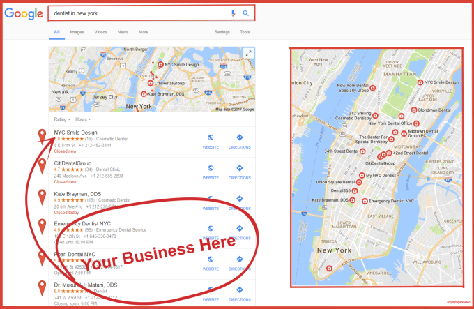 Google Point Map Citations Create 100 Pointers On Goo...