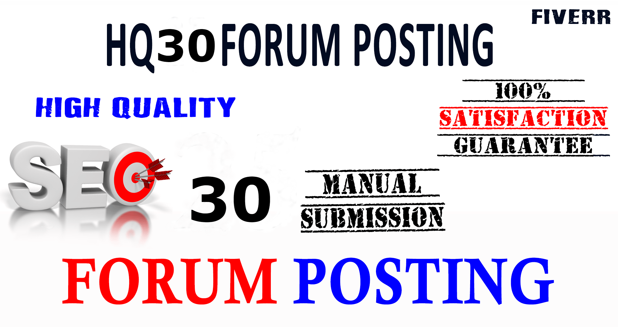 I wil Provide 30 General Forum Posting for your website