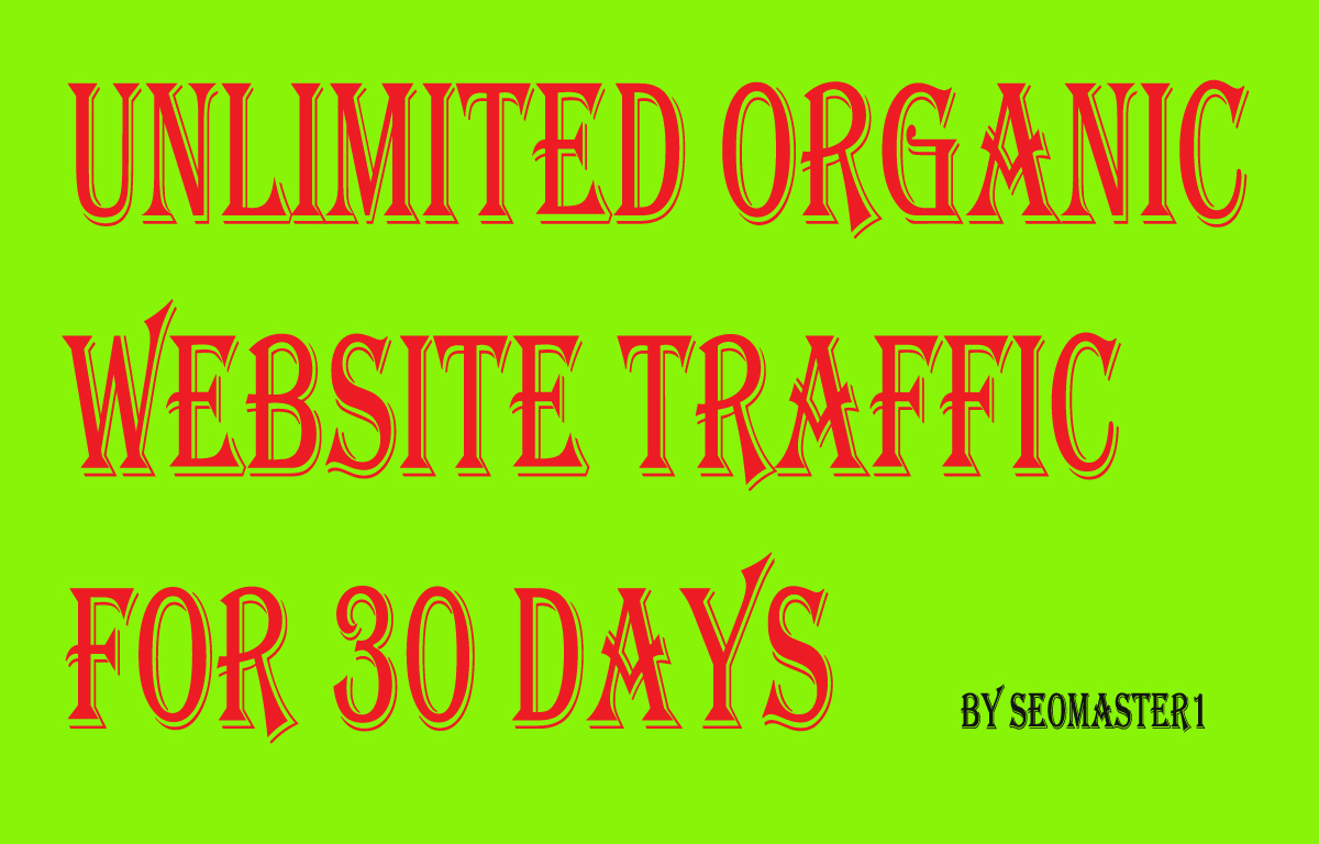UNLIMITED organic & social Website TRAFFIC for 1 ...