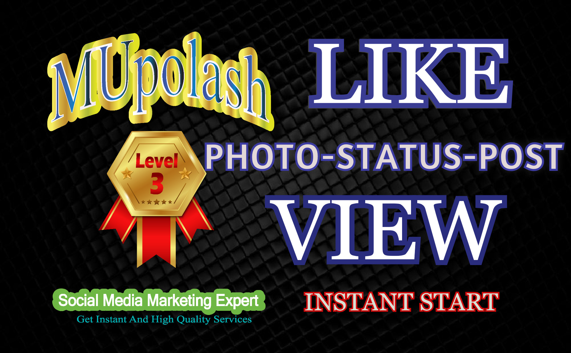 Get instant reaction on post / photos /videos. Non-drop, high quality.