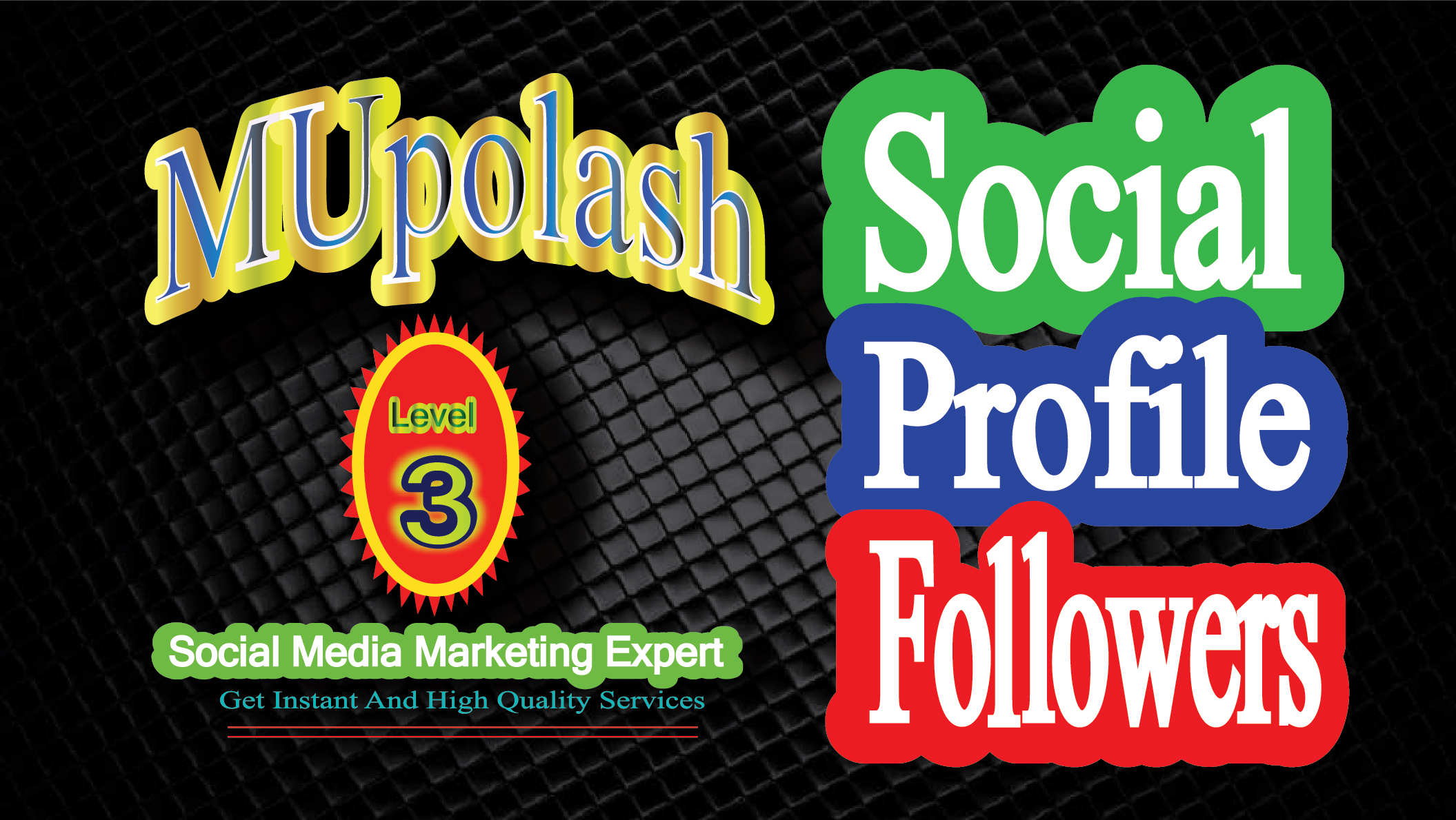 Get Instantly high quality social promotion on your social planform.