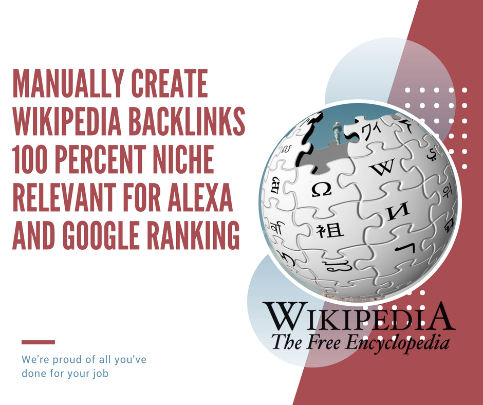 Get Most Powerful Wikipedia Backlinks Niche relevant for improve SEO ranking