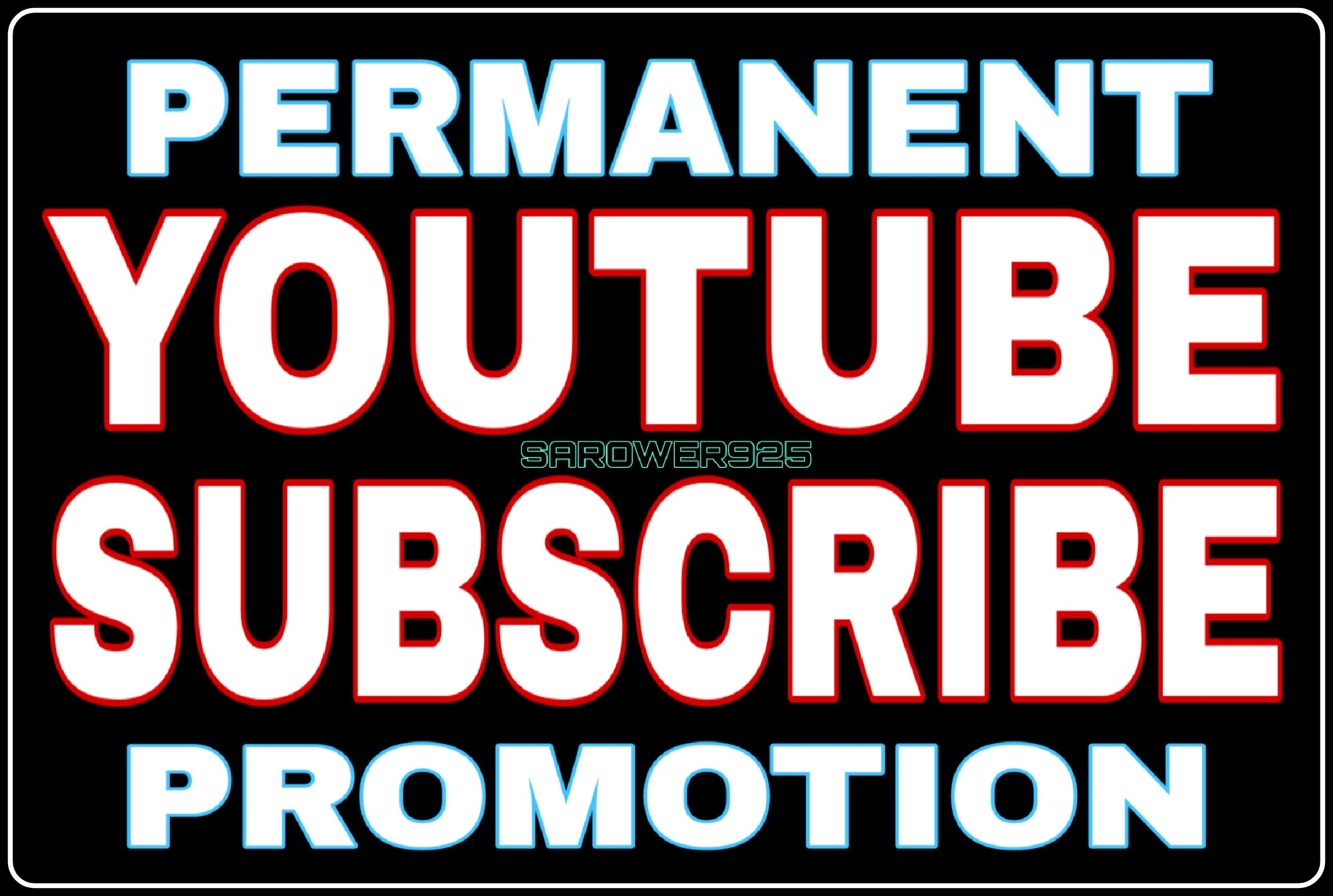 Permanent youtube promotion by real users