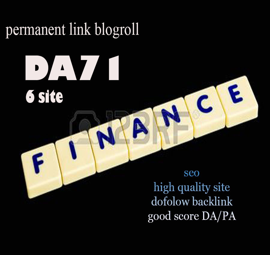 Give Link DA71x6 Finance Site Blogroll Permanent