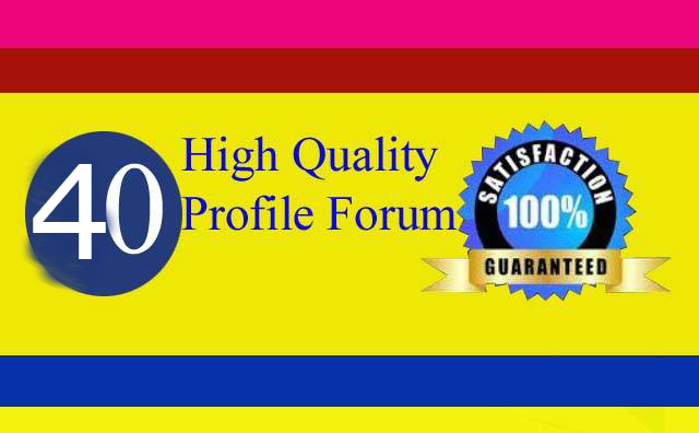 Manually HQ 40 Profile Forum Links For Your Website