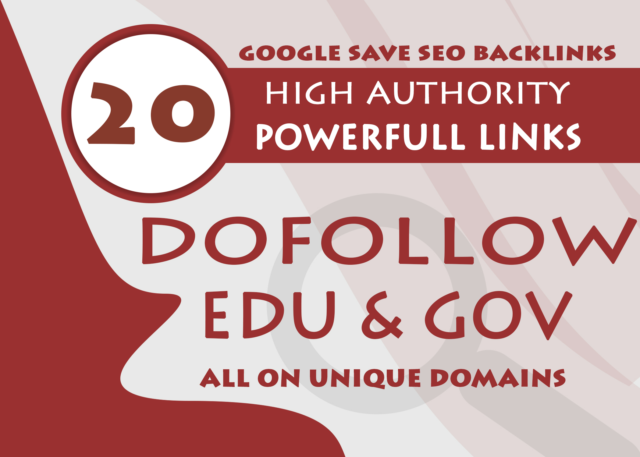 20 Edu And Gov Dofollow Backlinks On Unique High Auth...