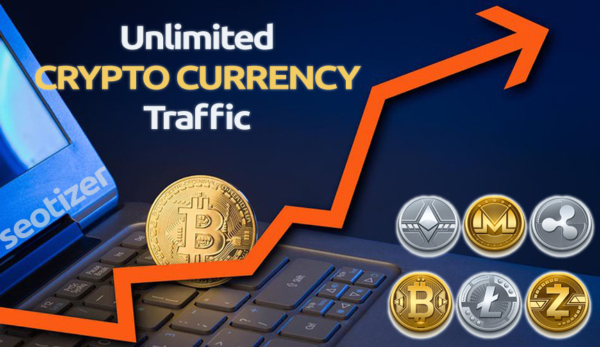 Unlimited CRYPTO CURRENCY traffic on Website for 30 Days