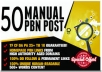 I will Create 50 PBN Blog Network backlinks with niche related articles and Indexing