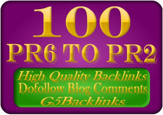 I will manually 100 blog comments page rank PR7 to 2 best results 2018