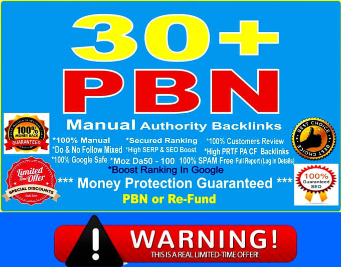 Provide 10 PBN Powerful Backlinks from 35+DA PA sites