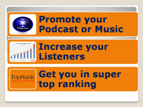 I can promote your podcast and give you top in 10 rank in any category