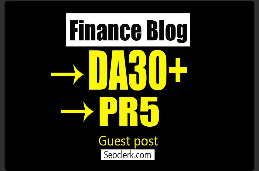 do guest post in PR 5 Finance blog
