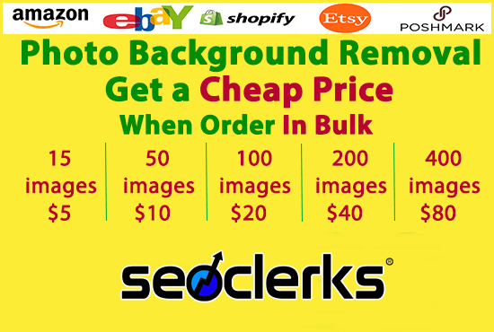 do 100 easy photos background removal superfast