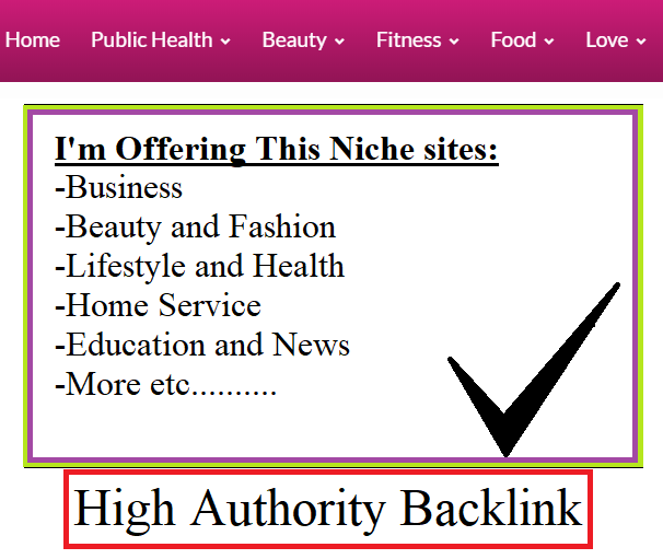 Publish a guest post on My Health DA25 High Authority Backlink Blogs