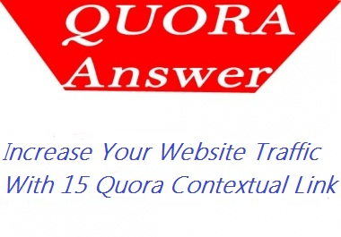 Increase traffic for your website with 15 contextual Link