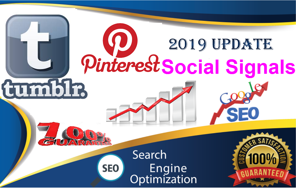 220 Tumblr+300 Pinterest share Real SEO Social Signals from top 2 sites SEO Social Signals Share Bookmarks Important Google Ranking Factors
