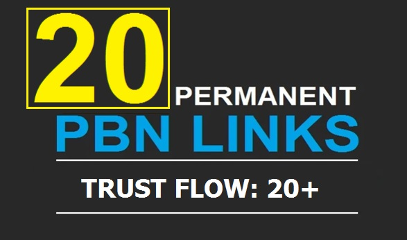 Get 20 Powerful TF 20+ PBN Backlinks with Unique Content