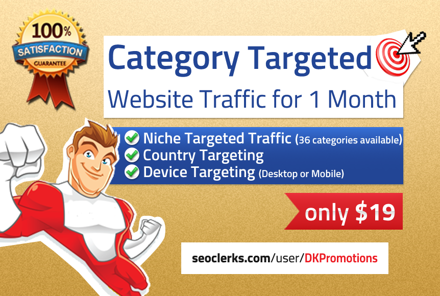 Real Human first-class NICHE TARGETED Website TRAFFIC