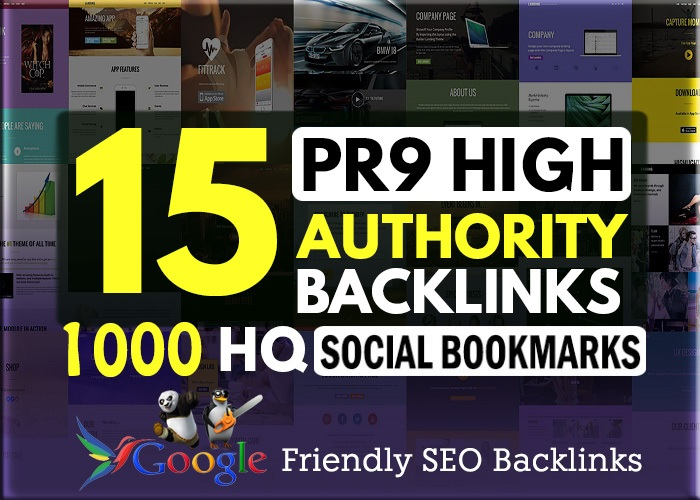 15 PR7-9 + 1000 HQ Social Bookmarking backlinks