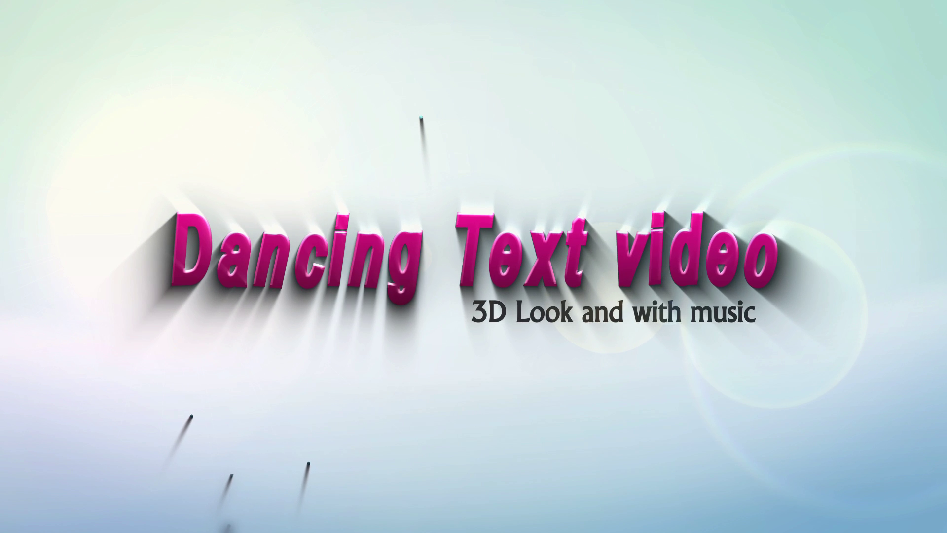 Will Create This 3D DANCING Text Animation Intro Video