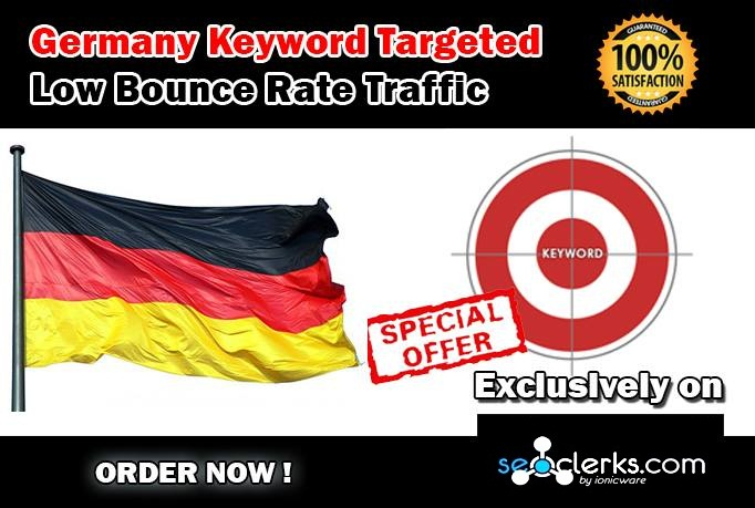 Drive 10000 GERMANY Keyword Targeted Low Bounce Rate Traffic