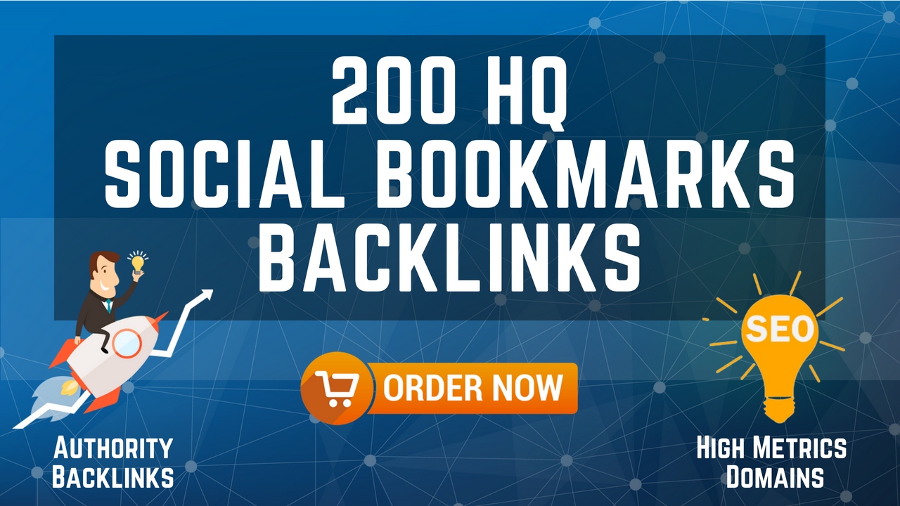 200 HQ Social Bookmarks Backlinks for your Website, ...