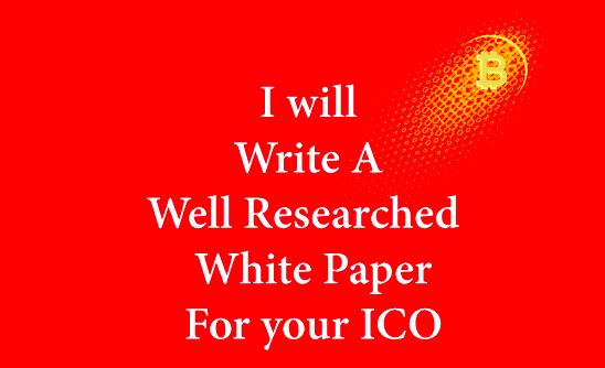 ICO & Blockchain Whitepaper Writing Service Length 800 Words