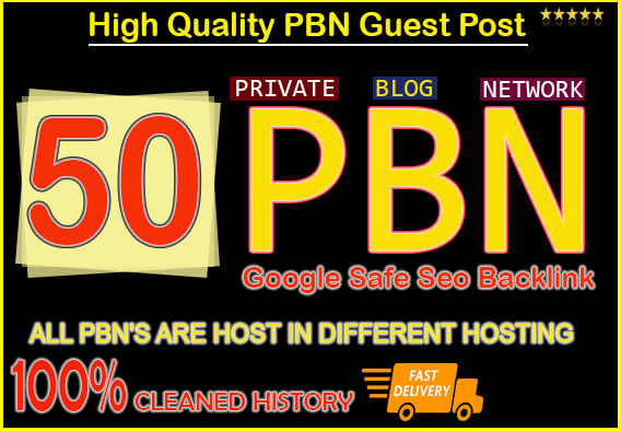 50 Permanant Manual High DA 20 - 40 Homepage Dofollow PBN Backlinks