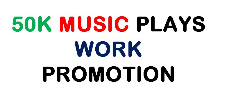 50k will Promote your Music work