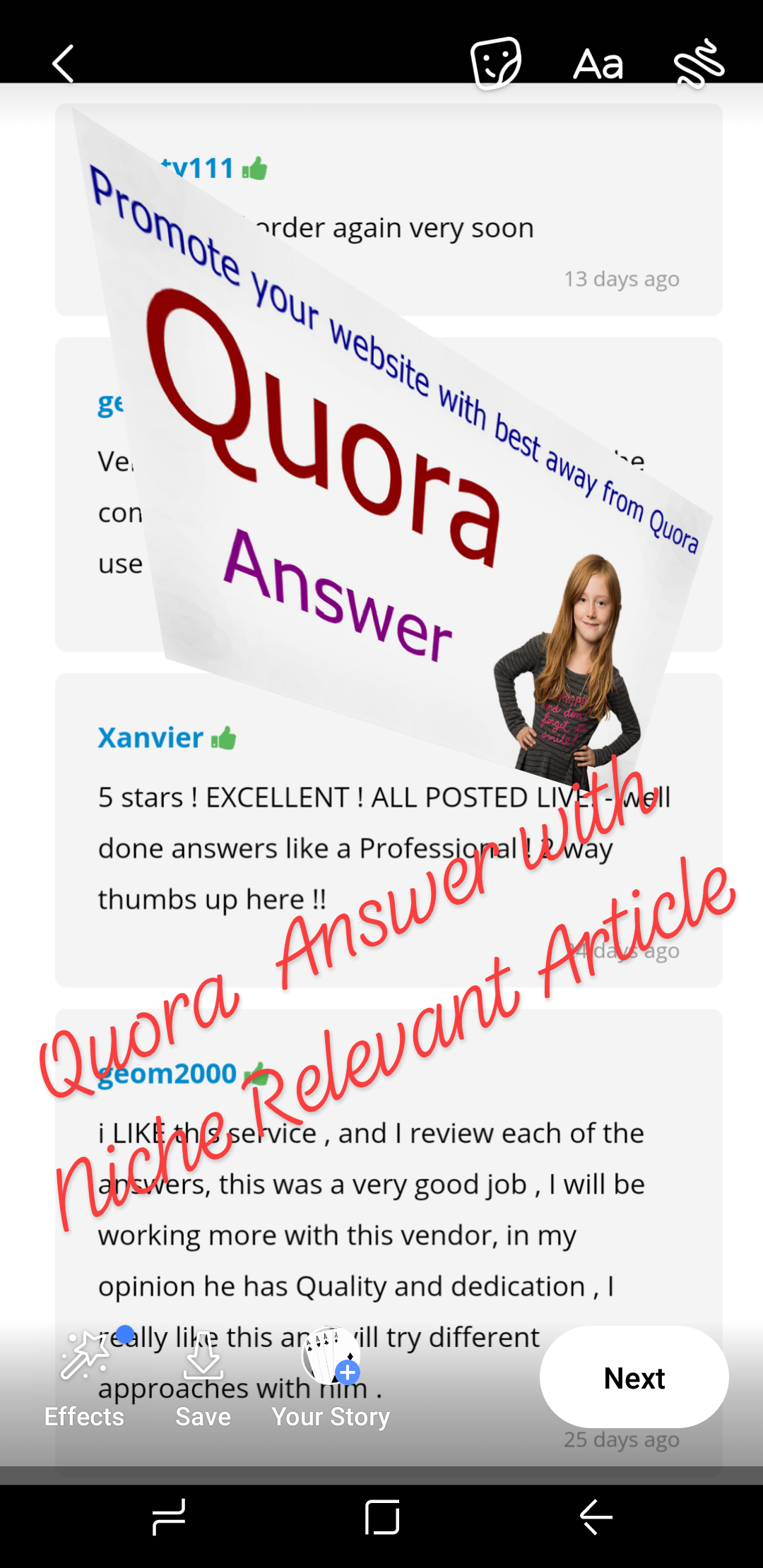 High Quality Quora Answer with a unique 500 words Article  and Contractual link.