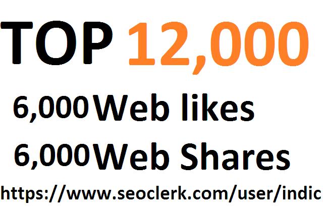 12,000 Social Signals White Hat SEO Backlinks Rank on TOP 1 Social Media