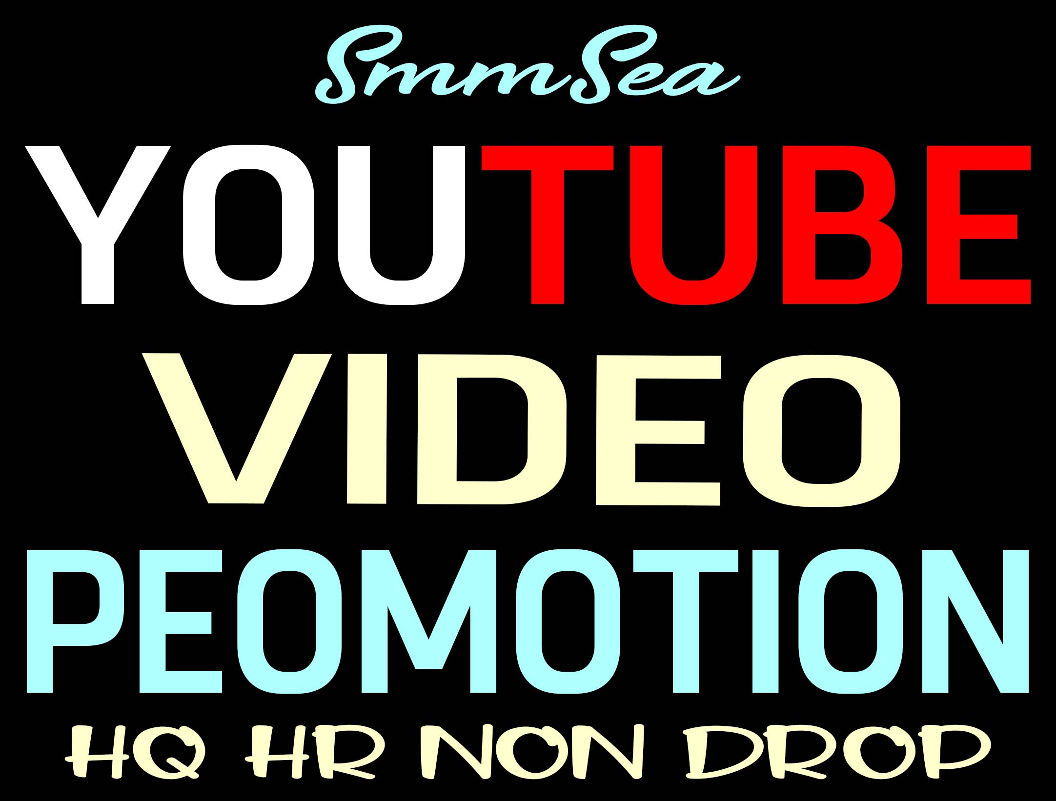 YOUTUBE VIDEO PROMOTION HQ AND NON DROP WITHIN 6 HOURS