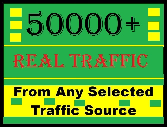 50000+ human traffic from Social media or google, bing, yahoo