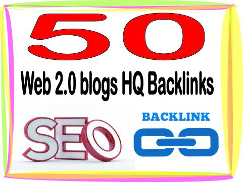 Rank your Site Alexa Rank with 50 Web 2.0 blogs Backlinks