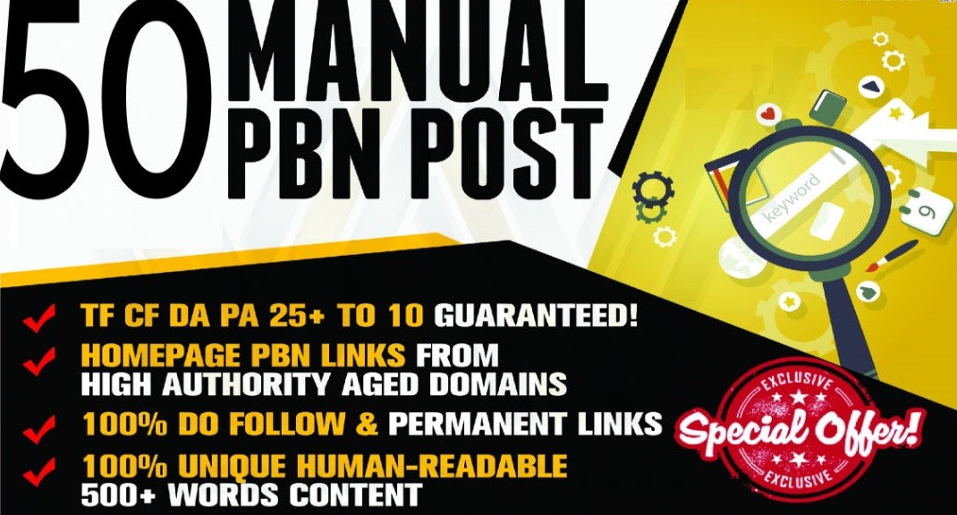 Build Manual 50 High PADA TFCF 25 to 10 Homepage Dofollow PBN Backlinks To Skyrocket you SERP