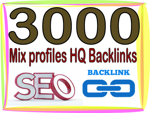 Get You 3000 HQ. Mix profiles PR6 to PR9 Backlinks Boost SEO Ranking