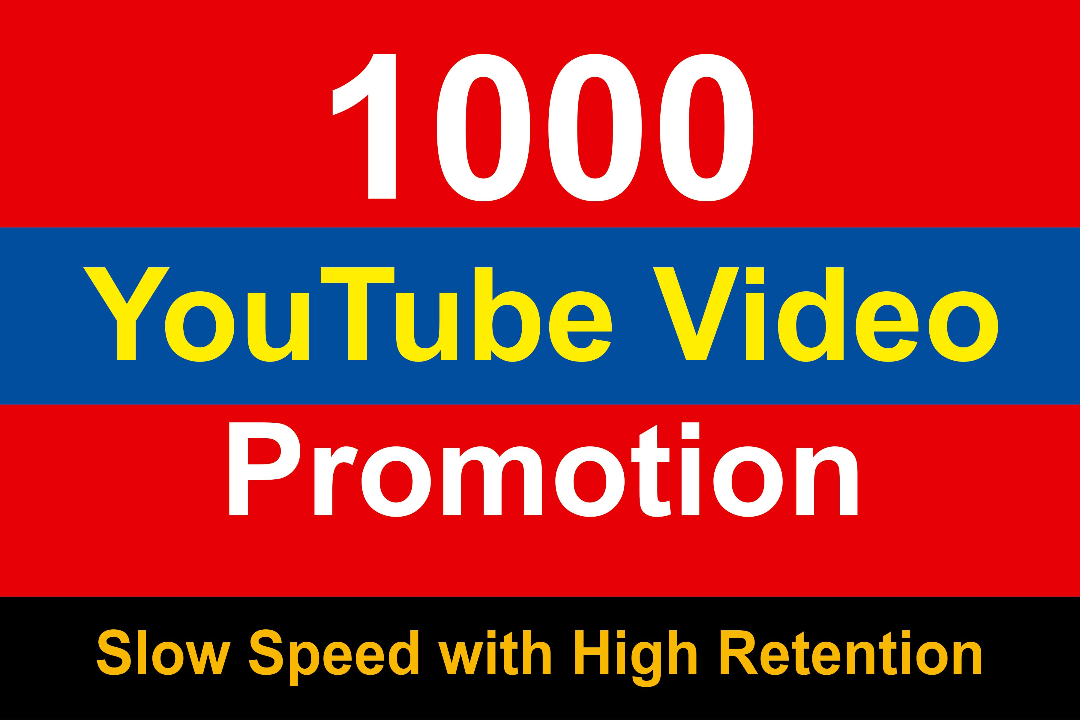 Organic High Quality YouTube Video Promotions slow speed